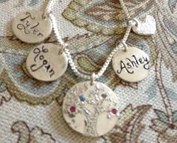 customizable necklaces customizable family tree silver pendant necklace