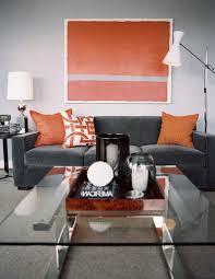 orange and grey living room accessories u2013 modern house