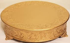 cheap cake stand belmont 14 inch matte gold wedding cake stand
