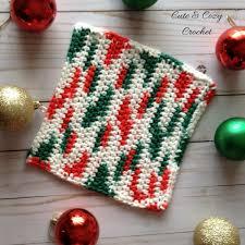 free knitting pattern christmas tree dishcloth merry bright dishcloth cute cozy crochet