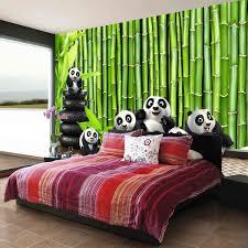 fresque chambre b livraison gratuite 3d vert bambou grande fresque chambre salon