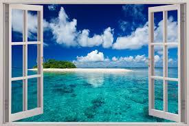 Wall Scenes by Beach Window Wallpaper Wallpapersafari