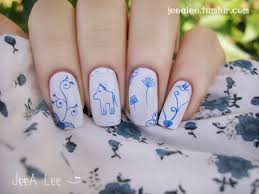 blue and white porcelain nails nail art pinterest white
