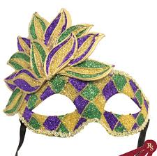 green mardi gras mask pruple gold green mardi gras carnival styled mask with crown