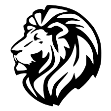 lion car symbol triumphant lion head die cut decal car window wall bumper