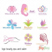 logo beauty spa and salon woman instant download 9 vector