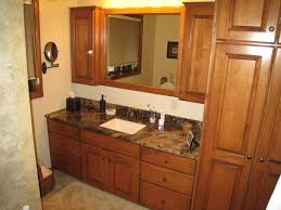 surprising decorating ideas using bathroom vanities with linen dazzling decorating ideas using rectangular white sinks and rectangular brown wooden vanity cabinets also with brown