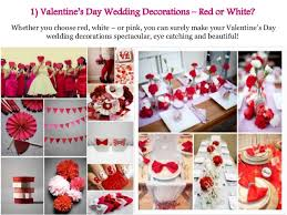 Red Wedding Decorations Ideas For A Valentine U0027s Day Wedding Decorations