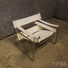 chroom lederen design stoel wassily chair vivre