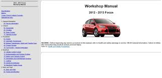 ford focus 2008 50 workshop manual