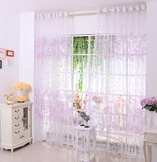 Cherry Kitchen Curtains by Cherry Blossom Shaped Tulle Modern Curtain Yarn Blinds Balcony
