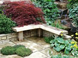 rustic garden bench provides unique exterior u2013 fresh design pedia