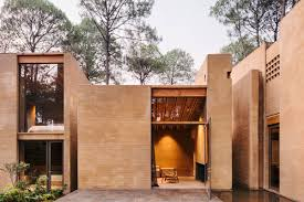 modern brick house gorgeous modern brick homes get pinkish tone from soil curbed