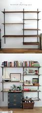 lanmr page 3 white bookcase wood for living space wall mounted