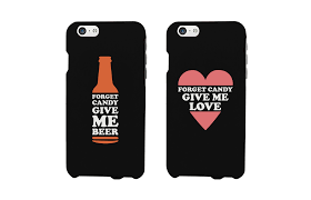 forget candy give me beer and love couple phone cases halloween gifts