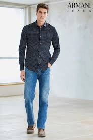 buy armani jeans navy patterned shirt from the next uk online shop