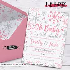 couples baby shower baby it s cold outside baby shower invitation winter