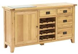 dining room buffet with 1 door 4 drawers and wine rack