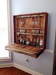 Wine Bar Decorating Ideas Home Pallet Furniture Pallets Bar And Walls