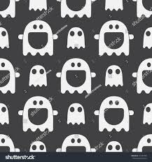 seamless halloween background scary funny ghost spirit seamless pattern stock vector 314487098