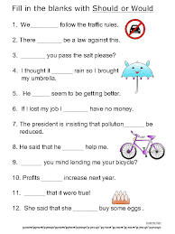 basic verbs worksheets should would 3l pinterest