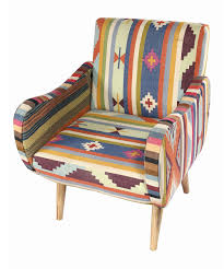 Printed Chairs Living Room by Aztec Print Kilim Lounge Chair This Would Be Awesome In My