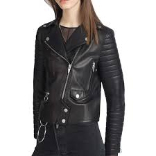 leather moto jacket women u0027s padded sleeves black lamb leather moto jacket black