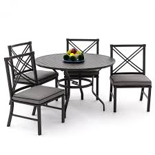Aluminum Patio Furniture Set by Audubon 5 Piece Aluminum Patio Dining Set With Side Chairs And