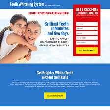 teeth whitening landing page design templates to boost sale of