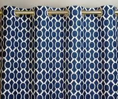 enchanting coral and navy curtains and chevron shower curtain