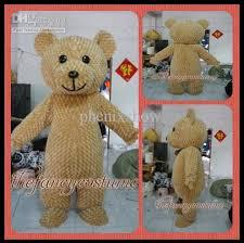 Brown Bear Halloween Costume Size Fuzzy Teddy Bear Mascot Costume Fancy Dress Party