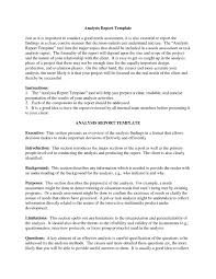 cover report template 8 analysis report template a cover letters 8 analysis report template