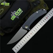 folded steel kitchen knives green flipper folding knife m390 steel tc4 titanium
