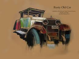 rusty car saatchi art old rusty car drawing by karl nassel