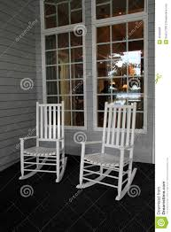 porch clipart two white adirondack rocking chairs on front porch stock photo