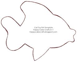 rainbow fish outline template