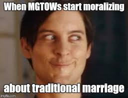 Traditional Marriage Meme - image tagged in spiderman peter parker memes my face when mgtow