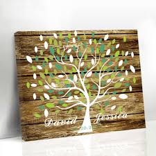 unique wedding guest book personalized unique wedding leaf tree wood frame guestbook