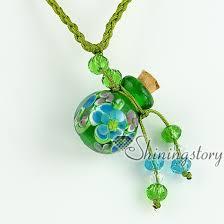 making glass necklace pendants images Vintage perfume bottle pendant necklace necklace vials for ashes jpg