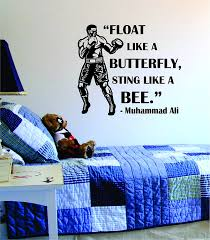 amazon com boxing quote float like a butterfly sting like a bee amazon com boxing quote float like a butterfly sting like a bee decal sticker wall vinyl cool boxing gloves fight sport nice home kitchen