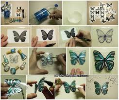 Diy Butterfly Decorations by Butterfly From A Soft Drink Bottle Craft Pinterest