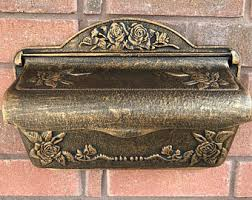 Rustic Iron Mail Slot Outdoor - antique mailbox etsy
