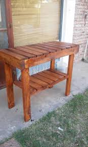 Table Kitchen Island - pallet kitchen island or end table