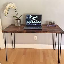 Rustic Modern Desk by Sale Industrial Modern Desk Modern Rustic Desk Hairpin