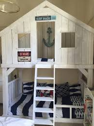 ana white surf shack bunk bed using club house bed plans diy