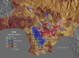 Los Angeles Maps by Race Ethnic Majority Map Los Angeles County 1940 Highlighting
