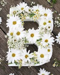 blooming flower letters
