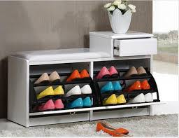 shoe storage ottoman bench incredible drawers luxury wooden storage shoes rack with chair seat