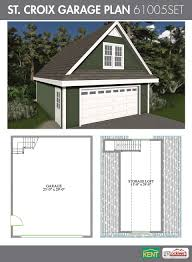 st croix garage plan 24 u0027 x 30 u0027 2 car garage 551 sq ft bonus