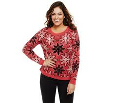 snowflake sweater bethany mota knit snowflake sweater with sequin detail page 1